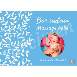 bon cadeau massage bébé