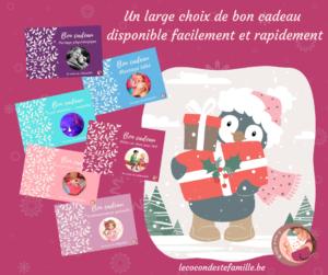 bon cadeaux bébé, idée cadeaux bébé, cadeau bébé noel, cadeau nouveau né, cadeau atelier parent bébé, le cocon de stéfamille